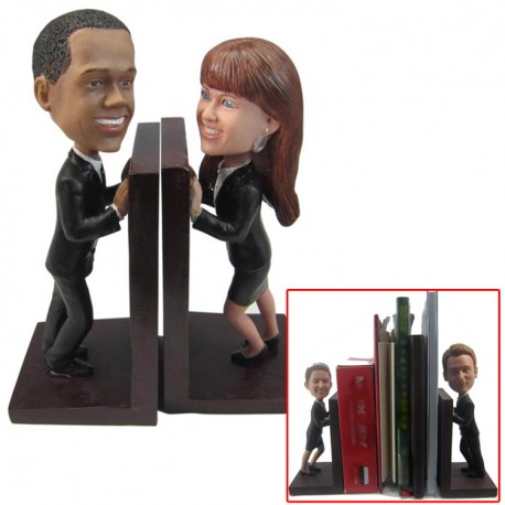 Patung Official Couple Book Holder