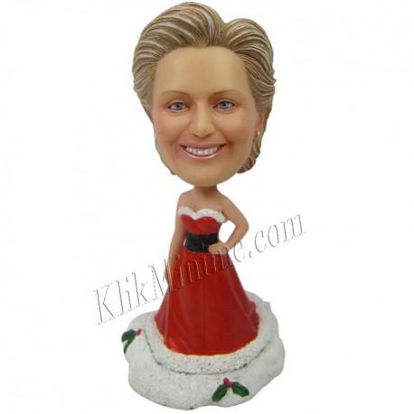 Patung Christmas Santa Gawn