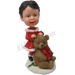 Patung Kiddies Christmas Kid Teddy Bear
