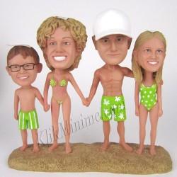 Patung Lifestyle Beach Family