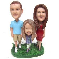 Patung Lifestyle Trio Family