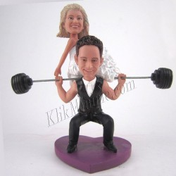 Patung Wedding Carry Bride Barbell