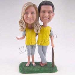 Patung Romance Couple Yellow Fever 3