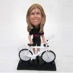 Patung Rider Bicycle Girl 1